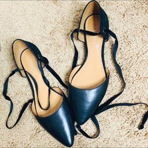 COACH Black Ballet Flats